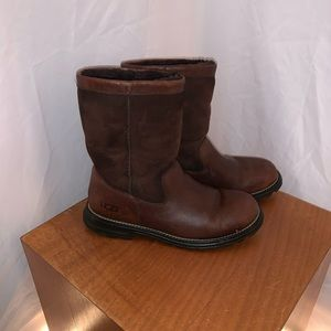 UGG Brown Leather & Suede Brooks Boots - Size 9